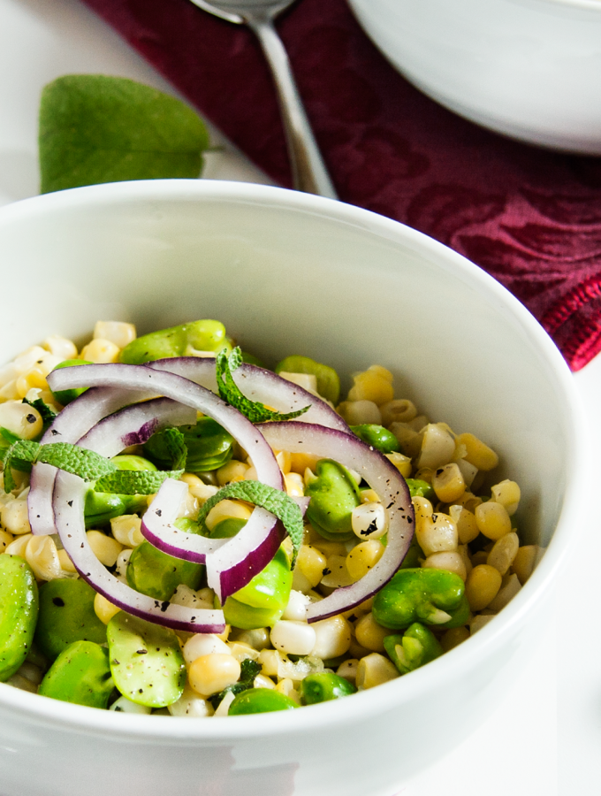 Fava Bean and Corn Salad