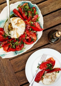 Tomato, Basil Caprese Salad - This salad is an example of taking the freshest ingredients using them simply and producing incredible results. | justalittlebitofbacon.com