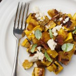 Delicata Squash with Bacon and Blue Cheese