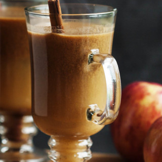 Hot Apple Pie Bourbon Cocktail - This twist on hot buttered bourbon uses cider and butterscotch sauce to make the perfect thanksgiving or fall cocktail.   justalittlebitofbacon.com