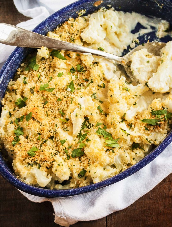 Cauliflower Gratin in Horseradish Cheese Sauce