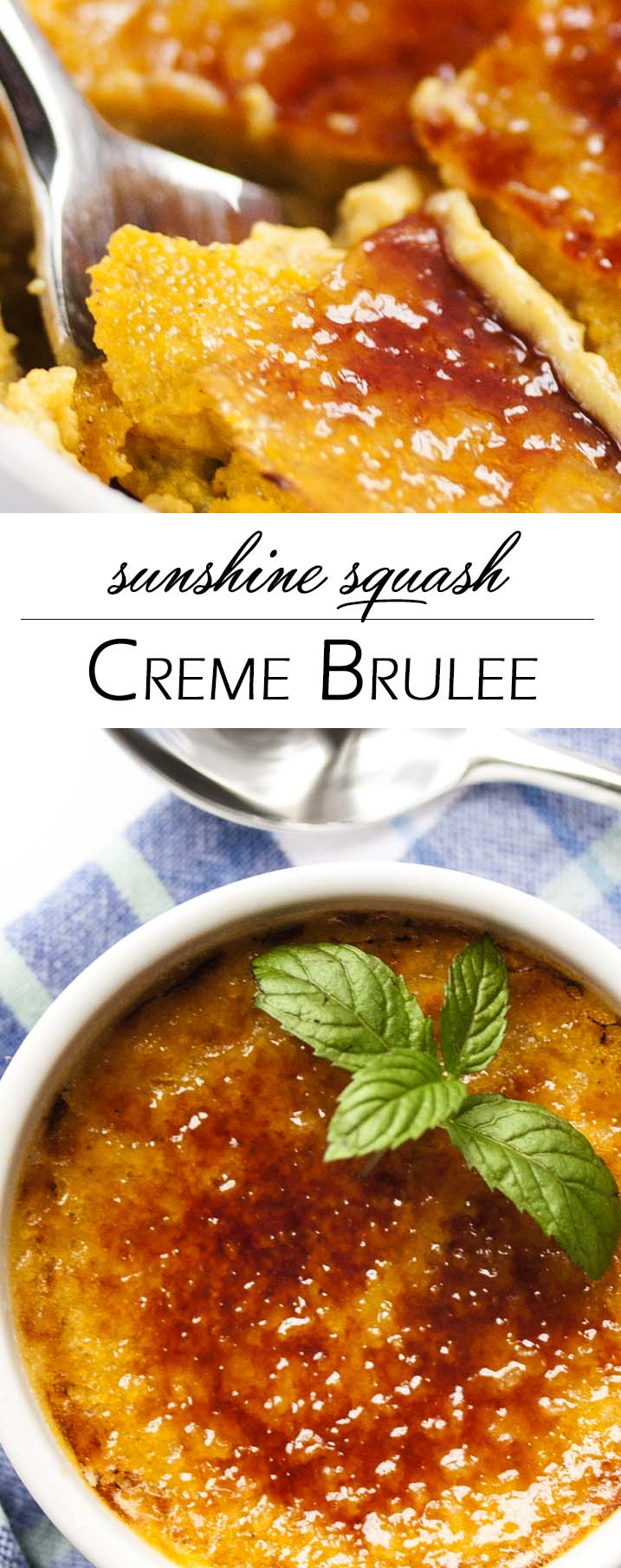 Sunshine Squash Creme Brulee - Caramelized sugar topping and a yummy, squash custard makes for a dish that is creamy, comforting and a great way to make something different with winter squash. | justalittlebitofbacon.com