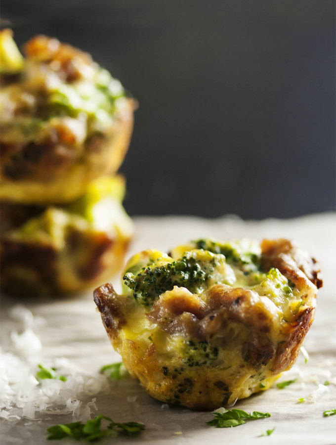 Three Cheese Broccoli Bites