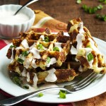 Loaded Mashed Potato Waffles