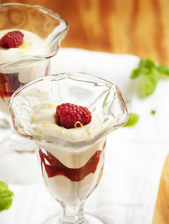 Raspberry Parfait with Ricotta Cream