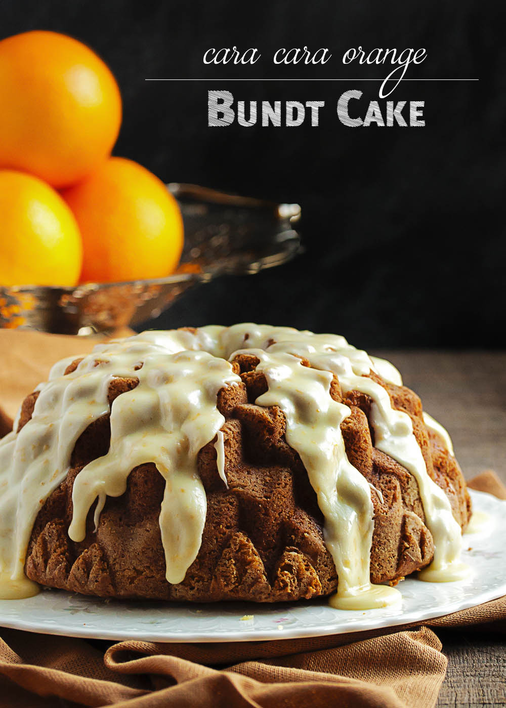 Cara Cara Orange Bundt Cake - This moist and rich bundt cake has a fine crumb and loads of orange flavor! One taste, and no matter where you are or what the season, it's summer again. | justalittlebitofbacon.com