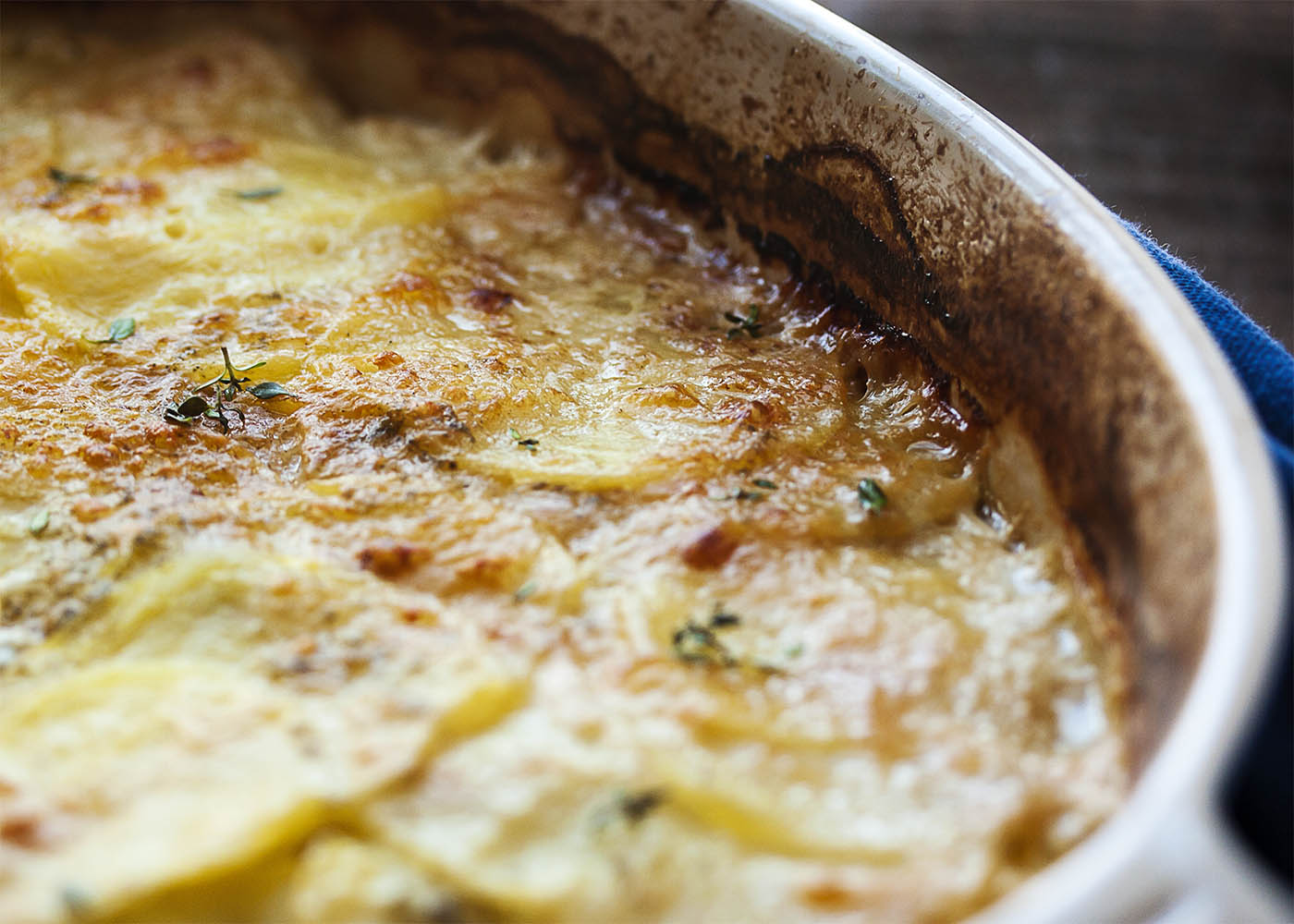and simple version of potato gratin, thinly sliced yellow potatoes ...