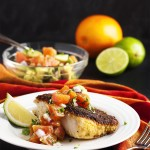 Oven Fried Cod with Cara Cara Oranges