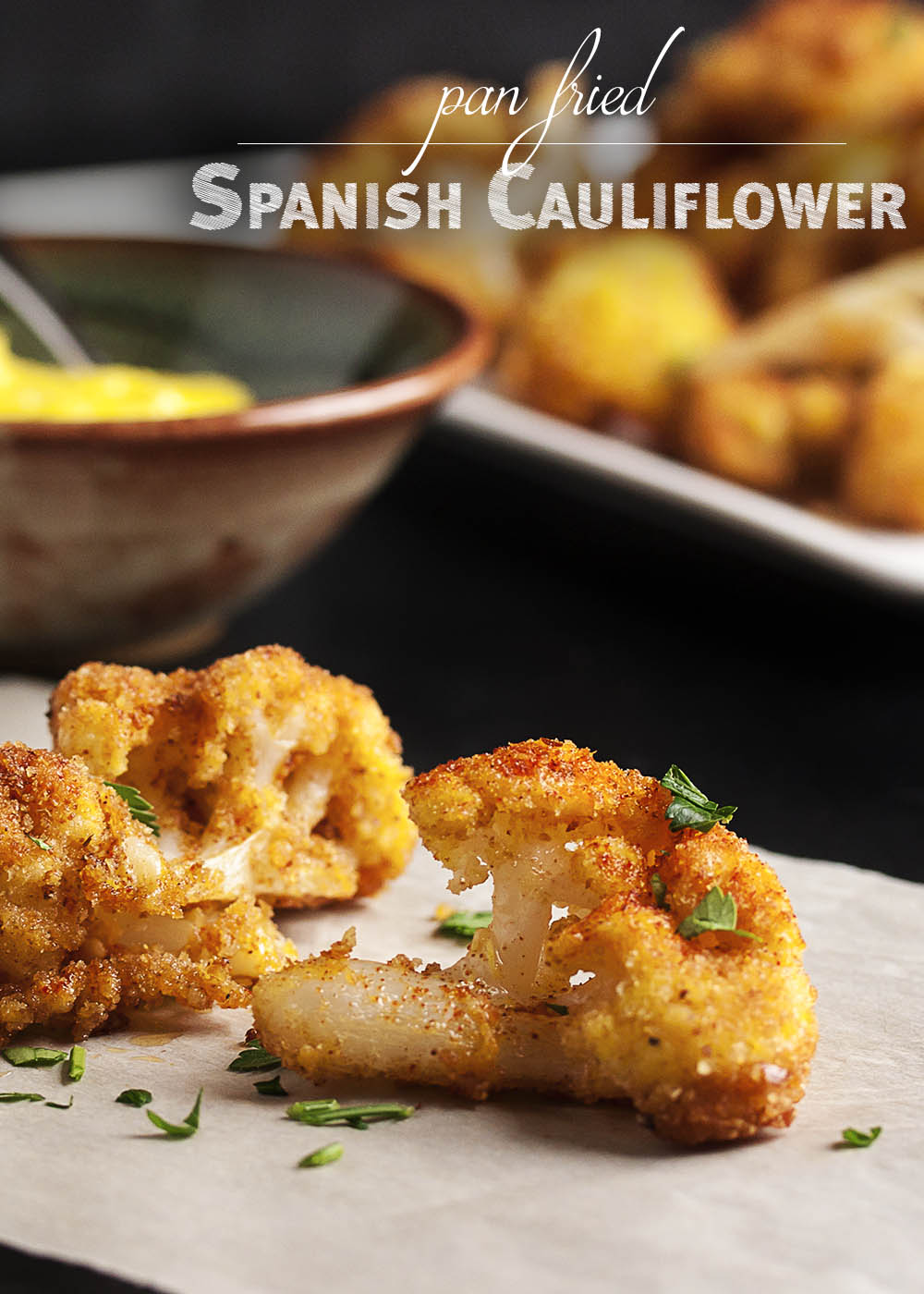 Pan Fried Spanish Cauliflower Tapas Just A Little Bit Of Bacon