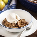 Spiralized Gluten-Free Pear Ginger Crumble