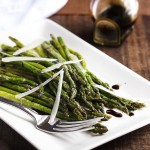 Roasted Asparagus with Parmesan and Balsamic