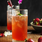 Strawberry Vodka Collins