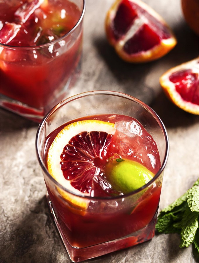 Blood Orange Bourbon Smash
