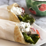 Leftover Lamb Gyros with Tzatziki Sauce