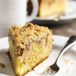 Rhubarb Coffee Cake with a Crumb Topping