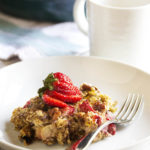 Baked Strawberry Rhubarb Oatmeal