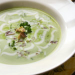 Elegant Chilled Spring Pea Soup