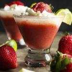 Layered Frozen Strawberry and Lime Daiquiri