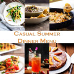 Casual Summer Dinner Menu with Friends