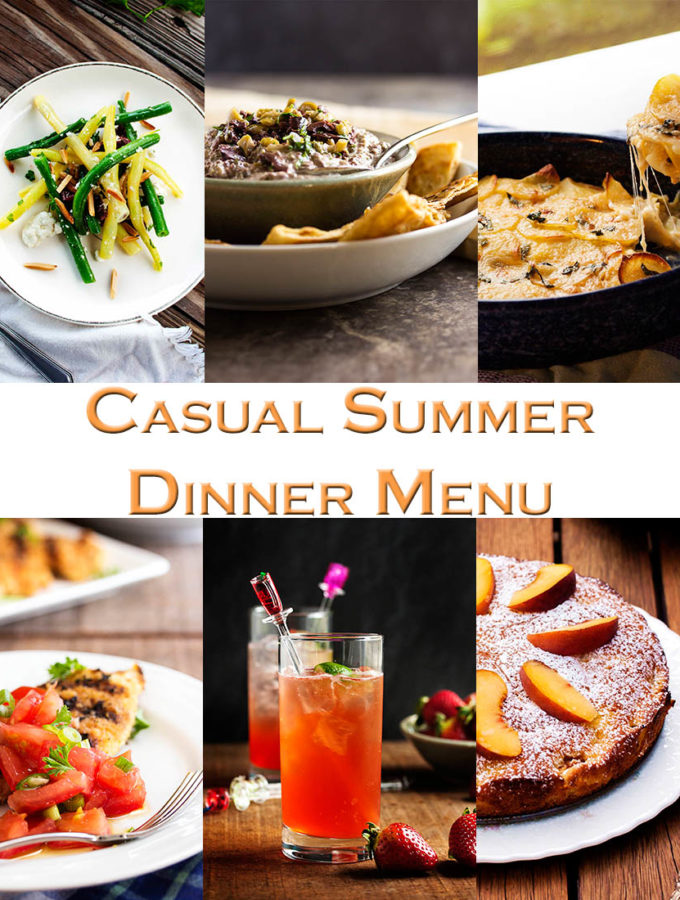Casual Summer Dinner with Friends – A great menu full of make ahead and prep ahead dishes for a summer gathering friends so you can spend time with your friends instead of in the kitchen. | justalittlebitofbacon.com