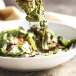 Swiss Chard Chips - Don't know what to do with chard? Family won't eat it? Try this recipe where Swiss chard leaves are tossed in bacon fat and baked to crispness to make addictively yummy chard chips.   justalittlebitofbacon.com