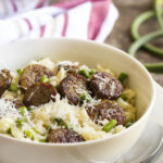 Sausage and Garlic Scape Risotto