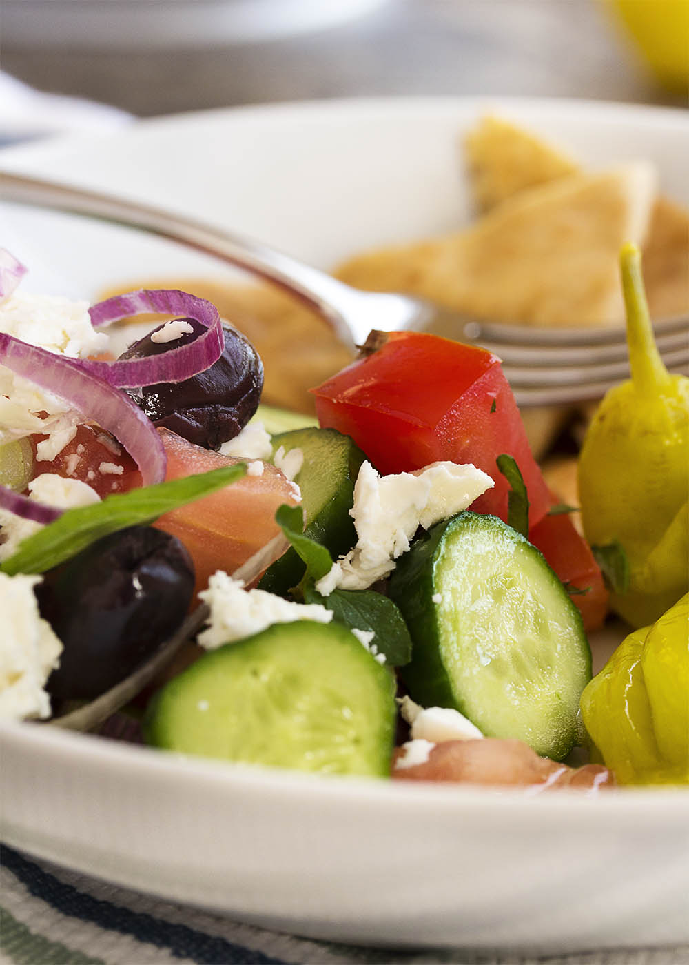 Traditional greek chopped salad just a little bit of bacon greek chopped salad greek chopped salad is a great healthy mediterranean recipe full of forumfinder Image collections