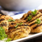 Tender and Juicy Grilled Breaded Chicken Breast