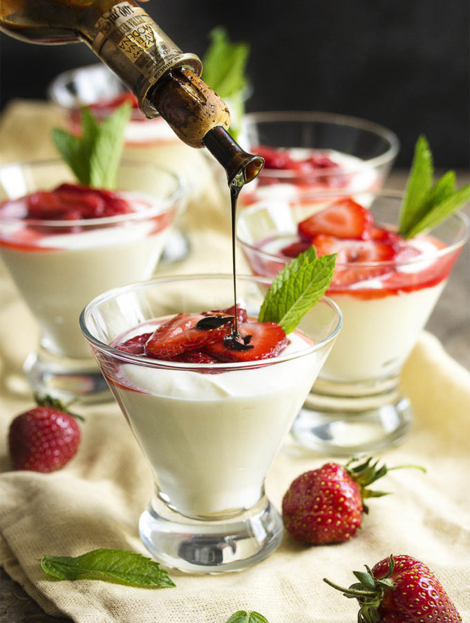 Balsamic Strawberry Mascarpone Mousse
