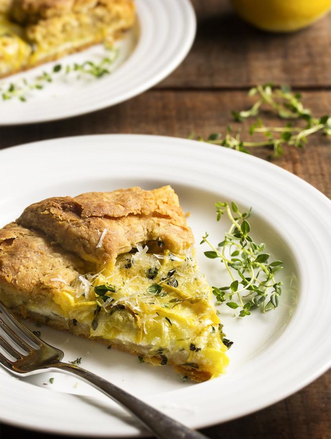 Savory Summer Squash and Ricotta Crostata