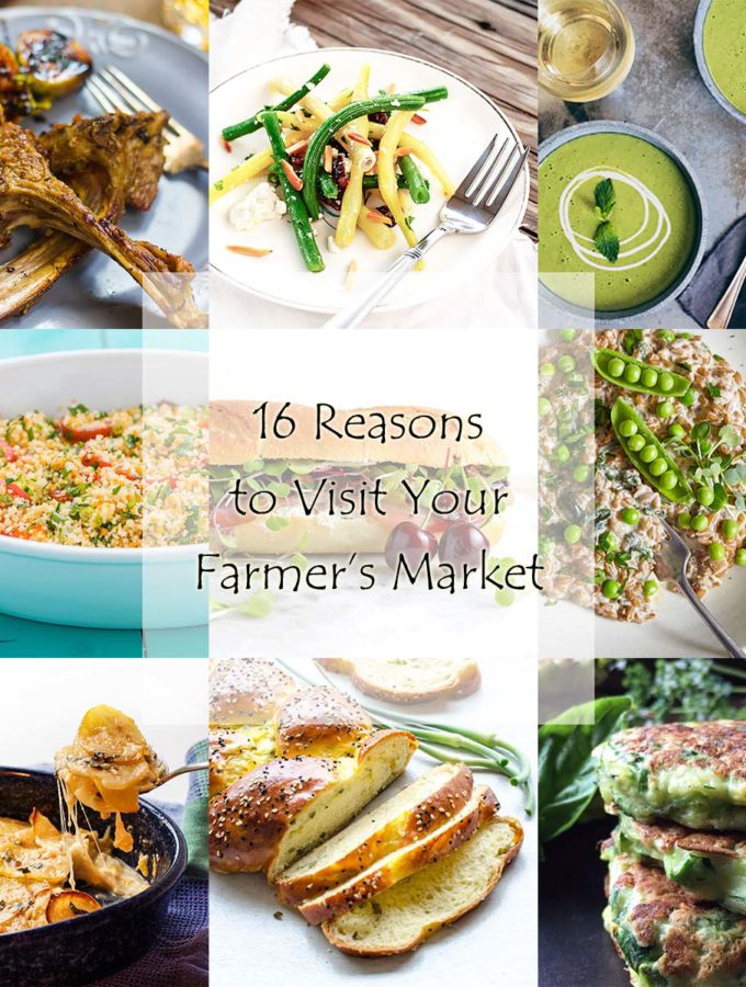 Farmer's Market Roundup - This roundup features 16 wonderful and tasty reasons to visit your local farmer's market and fill up on fresh produce. | justalittlebitofbacon.com