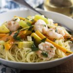 Grilled Shrimp Scampi With Mixed Vegetables