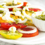 Heirloom Tomato Caprese Salad with Balsamic Pesto