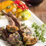 Grilled Lamb Chops with Fresh Fig Port Sauce