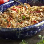 Baked Sliced Tomato Gratin with Parmesan Breadcrumbs