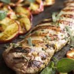 Grilled Pork Tenderloin with Apples and Sage