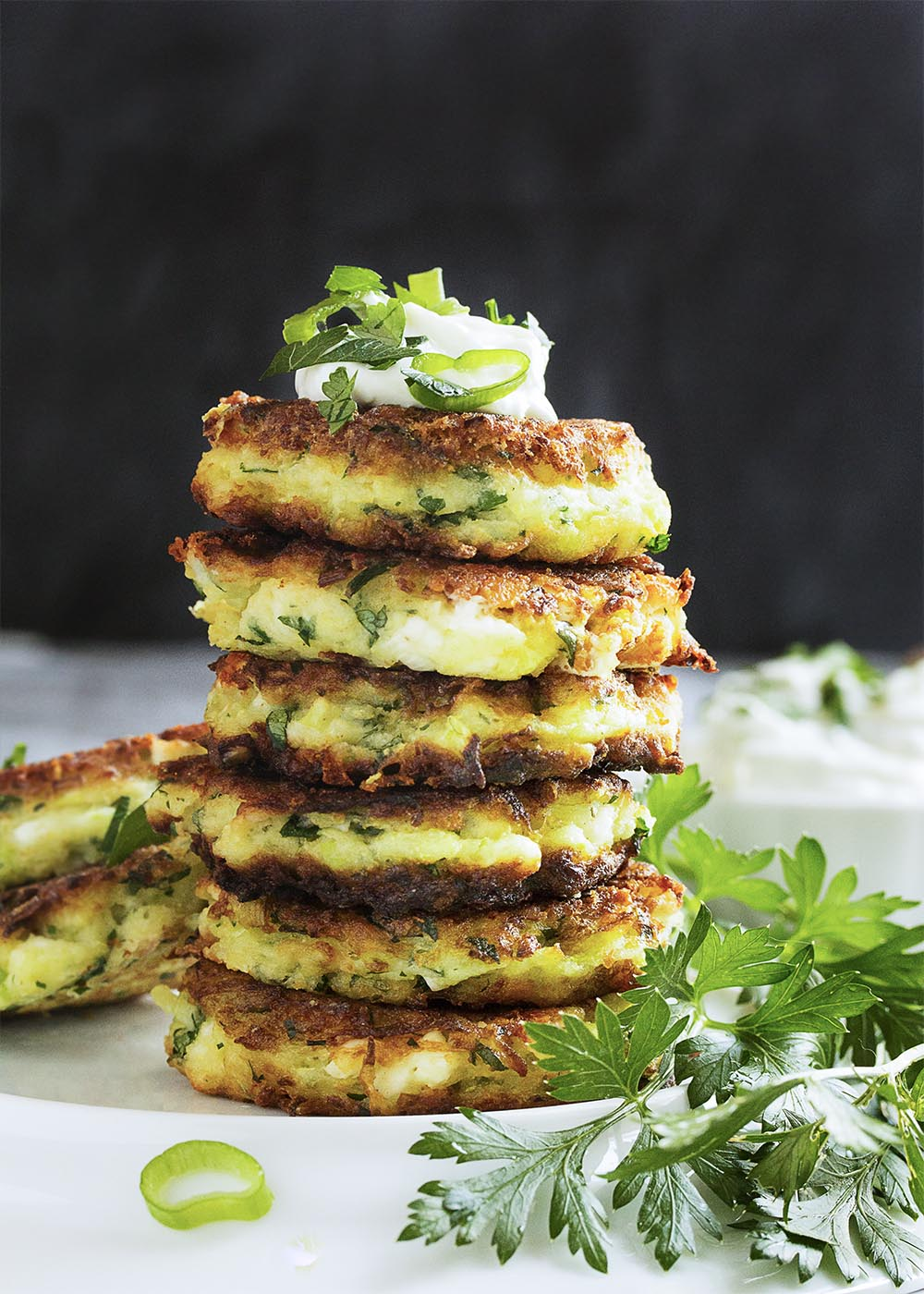 Gluten Free Zucchini And Feta Fritters Just A Little Bit Of Bacon