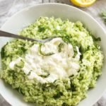 Lemon Basil Risotto with Burrata