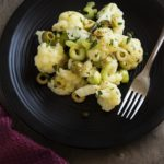 Cold Cauliflower Salad with Green Olives and Capers