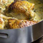 Pan Roasted Chicken Thighs Dijon