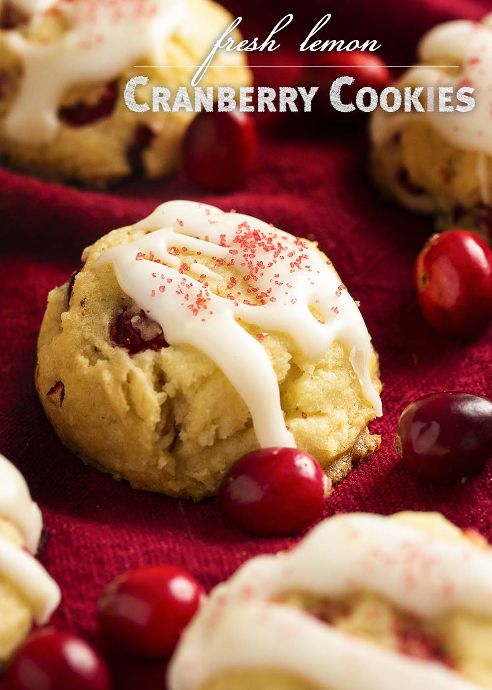 The fresh cranberries in these fresh cranberry cookies give them such a bright and zingy flavor which is completely different from dried cranberries! Don't just use fresh cranberries for sauce. Make cookies!   justalittlebitofbacon.com