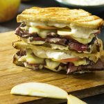 Cheddar, Apple, and Roast Beef Panini