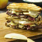Cheddar, Apple, and Roast Beef Panini