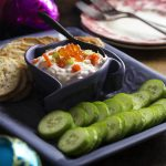 Caviar and Smoked Salmon Cream Cheese Dip