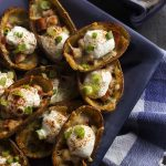 Crispy Potato Skins with Chorizo and Cheese