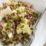 Warm Mediterranean Cauliflower and Farro Salad