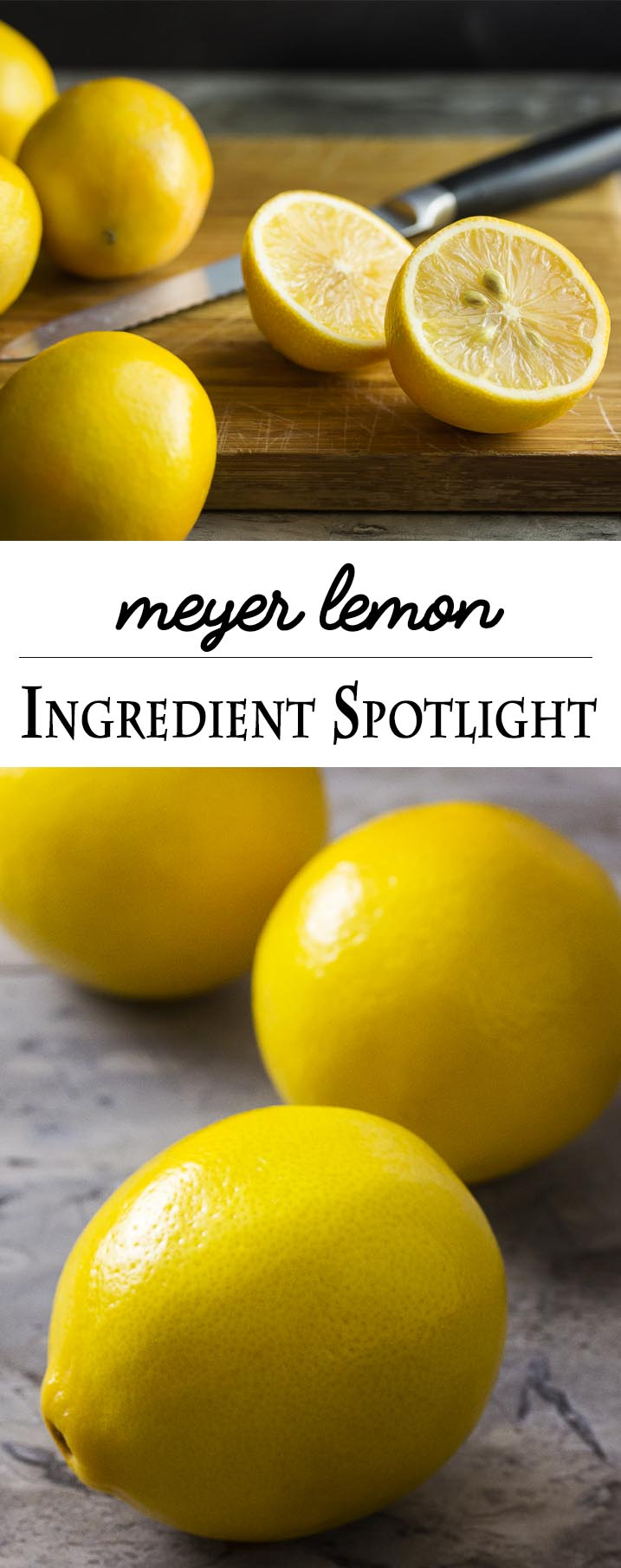 What are Meyer lemons? How do Meyer lemons taste? Origin, flavor, recipes and more answered in this meyer lemon ingredient spotlight. | justalittlebitofbacon.com