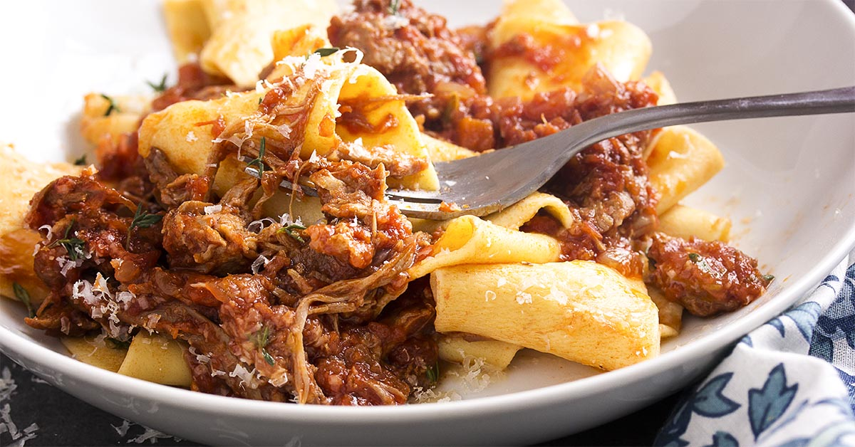 Italian Braised Pork Shoulder Ragu