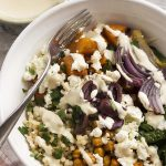 Greek Buddha Bowl with Chickpeas and Squash
