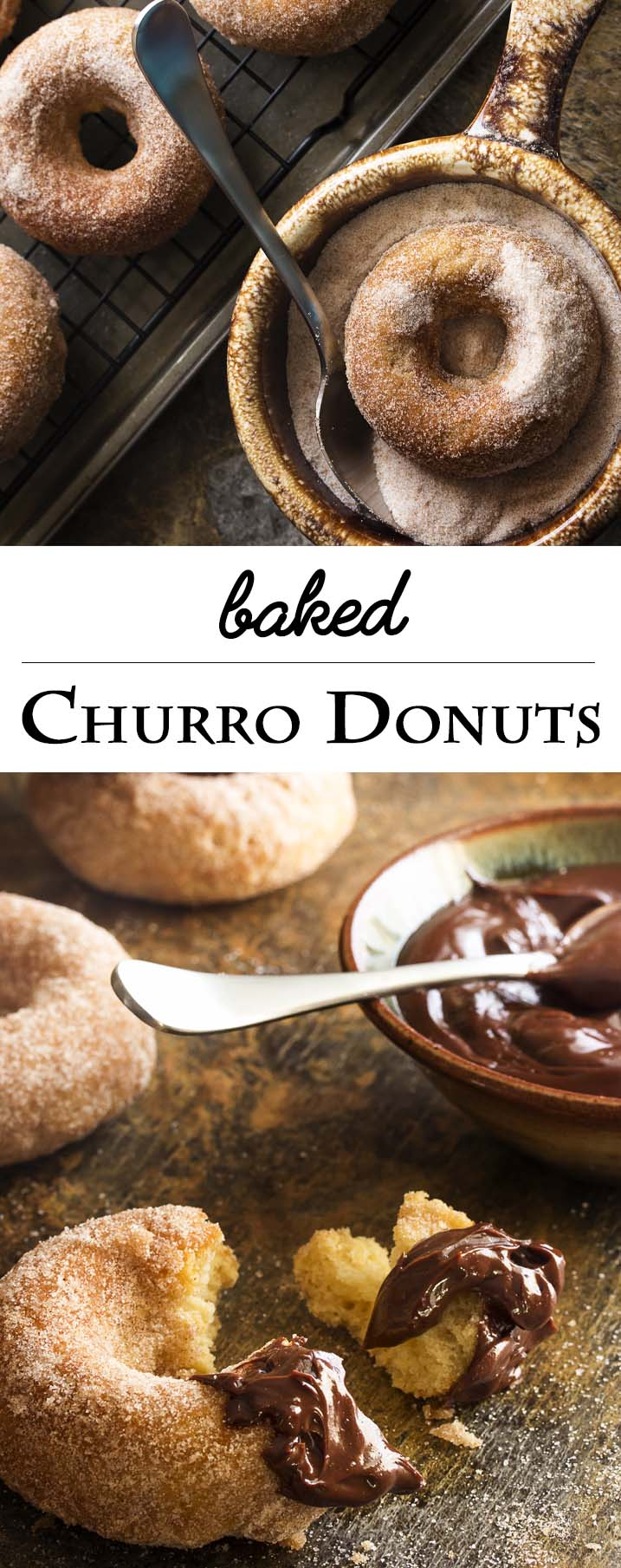 Baked Churro Donuts With Spicy Chocolate Sauce Just A